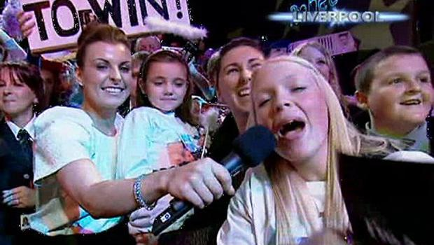 X Factor 2010 Final - Fans for Rebecca in Liverpool presented by Coleen Rooney