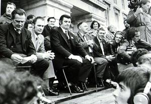 Platform party at U.W.C Rally at Stormont. Ulster Workers Council Strike 05/06/74