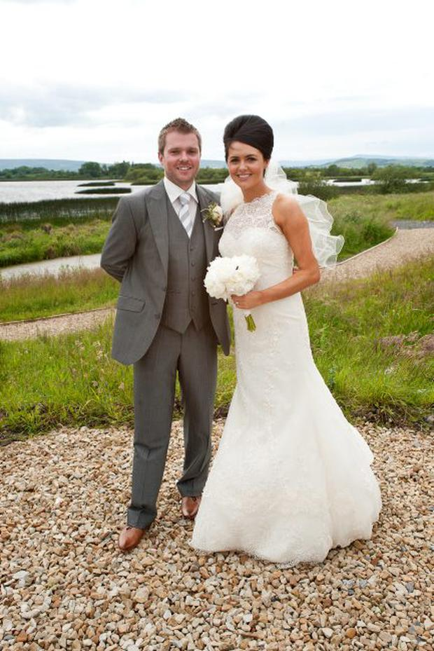 """Gareth & Kerrie Townsend, Kilmore Quay Club, Lisnaskea, Fermanagh <p><b>To send us your Wedding Pics <a  href=""""http://www.belfasttelegraph.co.uk/usersubmission/the-belfast-telegraph-wants-to-hear-from-you-13927437.html"""" title=""""Click here to send your pics to Belfast Telegraph"""">Click here</a> </a></p></b>"""