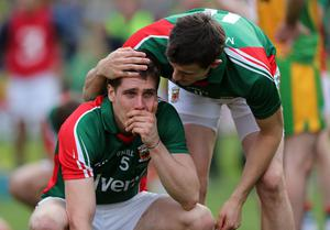 GAA Football All Ireland Senior Championship Final, Croke Park, Dublin 23/9/2012Donegal vs MayoLee Keegan of Mayo is consoled by Jason Doherty at the end of the gameMandatory Credit ©INPHO/Donall Farmer *** Local Caption ***