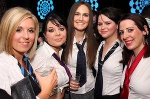 Meabh Magee, Beth Armstrong, Tori Amnesley, Andrea Reid, Deirdre Mullan in Scratch Nightclub Back to School Party