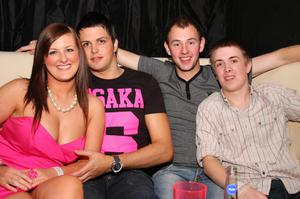 Alison Purdy, Christopher Waddell, Davy McMinn, Stevie Lintin in Scratch Nightclub Back to School Party