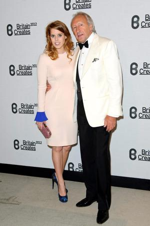 (L-R) Princess Beatrice and Harold Tillman attends Britain Creates 2012: Fashion & Art Collusion  at Old Selfridges Hotel on June 27, 2012 in London, England.