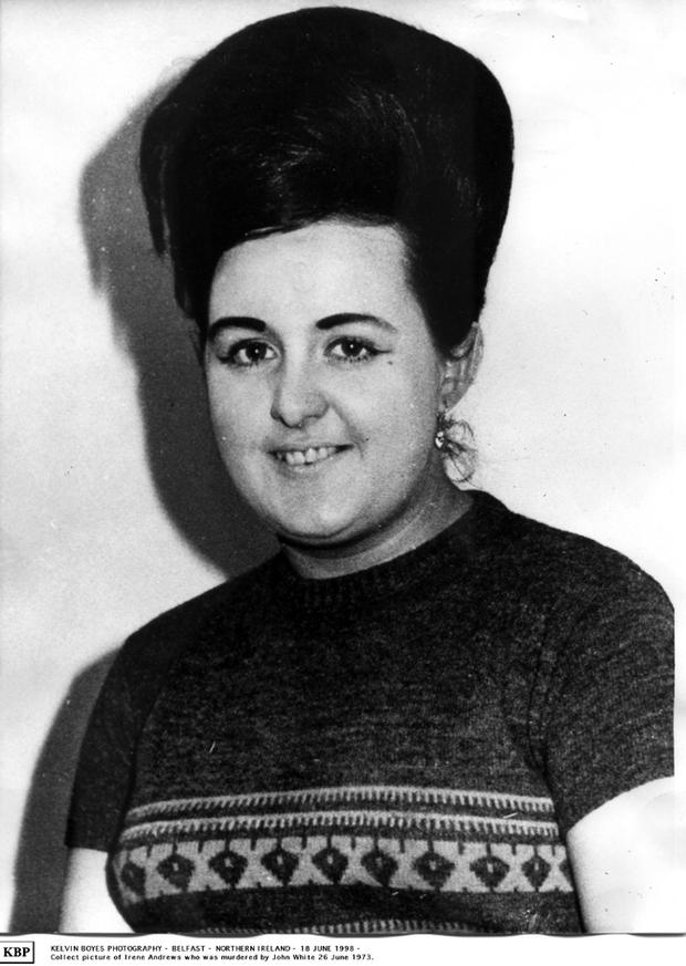 Northern Ireland murder victim Irene Andrews who was murdered by John White on the 26th June 1973.