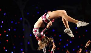 A girl from the RSD Action dance group performs at the BCA International Cheerleading and Dance Competition at the Ricoh Arena on July 17, 2010 in Coventry, England.