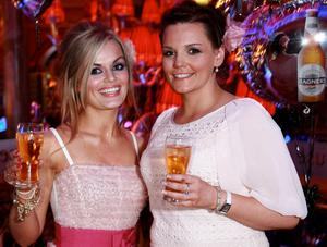 Owner of the winning Magners Light Most Stylish Fashion Outlet, Orlagh Maye of Pure@54, Lurgan and Clare Brankin, from Glenavy at the Café Vaudeville for the Magners Light Style Awards.