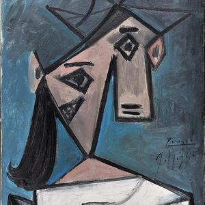 The 1939 work by Spanish painter Pablo Picasso stolen from the National Art Gallery in Athens (AP)