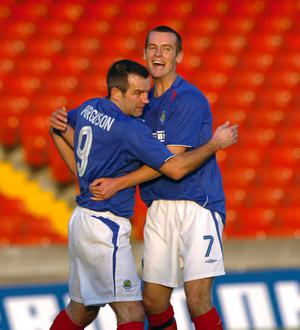Former Linfield colleagues Glenn Ferguson and Oran Kearney are in opposing camps today