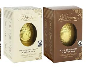 <b>Divine Milk Chocolate Egg £3, divinechocolate.com</b><br/> Here's another ethically sourced cocoa egg for chocoholics with a conscience. This one is a bargain, considering how tasty it is