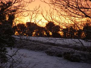 Sunset in the snow. By Aidan, Saintfield