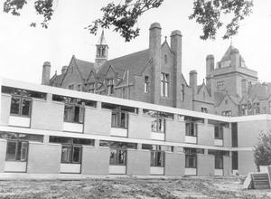 The new study block at Campbell College, with 96 study places, is the first of five projects now in course of planning and execution. The library extension and improvements will be completed next summer, togeather with grass pitches, tennis courts and an all-weather hockey pitch, 1964.