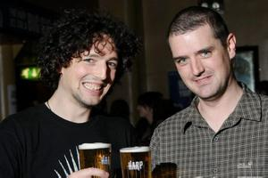 Jerry and Conor Donalson at the Harp Ice Cold Big Gig in the Spring and Airbrake on 19th March