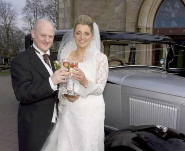 """Paul and Edel Gilmour married on the 21 feb 2009 <p><b>To send us your Wedding Pics <a  href=""""http://www.belfasttelegraph.co.uk/usersubmission/the-belfast-telegraph-wants-to-hear-from-you-13927437.html"""" title=""""Click here to send your pics to Belfast Telegraph"""">Click here</a> </a></p></b>"""