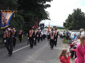 Tobermore Orange Order parade. July 2012. Picture submitted by Rodney Mulholland