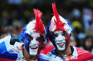 Netherlands fans enjoy the atmosphere prior to the 2010 FIFA World Cup South Africa Final match between Netherlands and Spain at Soccer City Stadium on July 11, 2010 in Johannesburg, South Africa