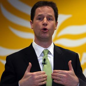 Lib Dem leader Nick Clegg said the party is 'punching above our weight' in the coalition