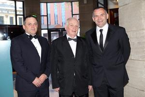 Carling Northern Ireland Football Writers Awards at the Europa Hotel in Belfast. Glenn Ferguson with his father Tommy (centre) and brother Gary