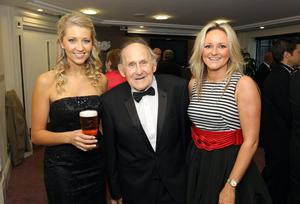 Hall of Fame inductee Jimmy Jones with Catherine Jennings and Paula Nesbitt from Carling