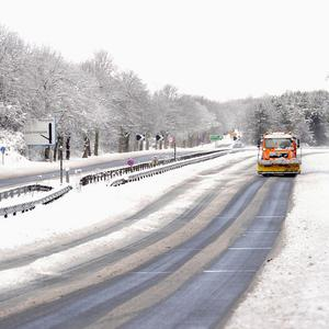 The A1 was closed between Berwick and Edinburgh for a time after heavy snowfalls
