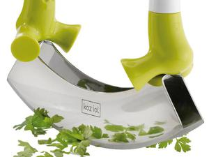 <b>3. Koziol Herby Brothers Herb chopper £19, koziol-shop.co.uk</b>  There is no quicker or easier way to chop up herbs. Just put the green stuff on the board and seesaw the blade over it.