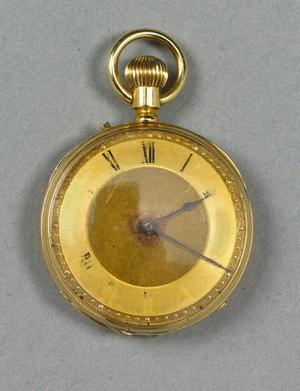 An 18-carat gold pocket watch which is among the rare artefacts connected to the Titanic to be sold by Bonhams and Butterfields in Massachusetts in the US on May 1. The watch, which was damaged when disaster struck mid-Atlantic, belonged to Nora Keane, an Irish immigrant, living in Harrisburg, Pennsylvania with her brothers and sisters.