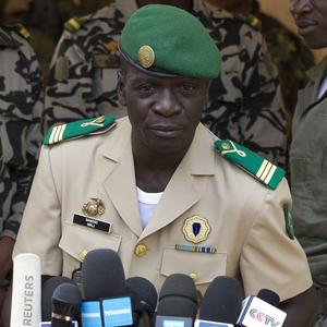Mali's new government hs 31 ministers, including five close allies of coup leader Captain Amadou Sanogo (AP)
