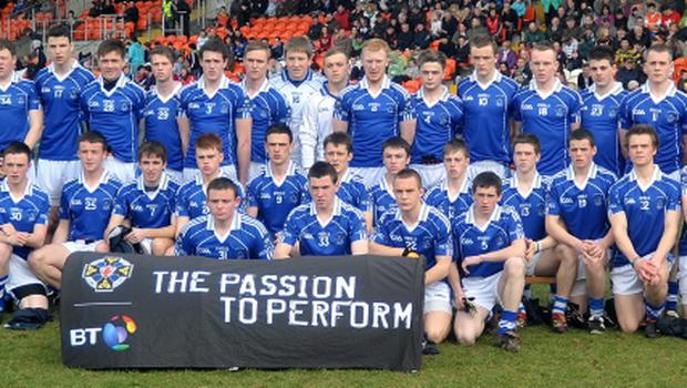 MacRory Cup final: The St Colman's team pose befre the MacRory Cup Final at the Athletic Grounds, Armagh