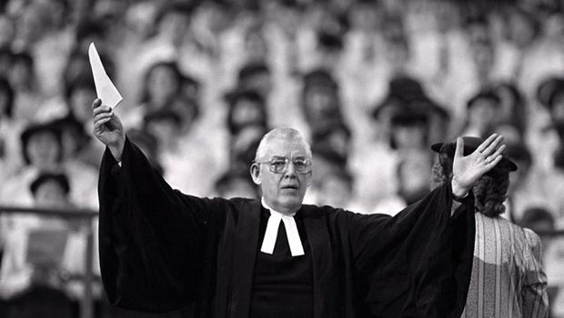 PACEMAKER BELFAST ARCHIVE 9124 MARCH 1991REV IAN PAISLEY PREACHING TO 12000 STRONG CONGREGATION ON 40TH ANNIVERSARY OF FREE PRESBYTERIAN CHURCH14/11/2011 The Rev Ian Paisley has announced his retirement from preaching after 60 years. Mr Paisley who is 85 started way back in 1946
