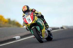 Superbike rider Stuart Easton pictured at the opening practice night of the 2010 Relentless North West 200