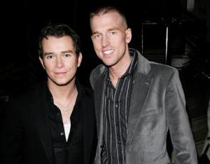 Stephen Gately and husband Andrew Cowles