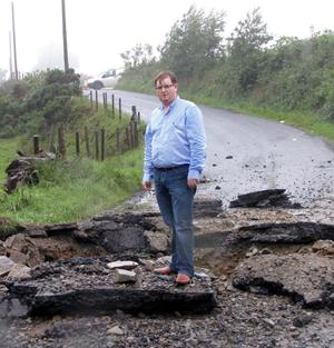 Victims campaigner William Frazer pictured at the scene in south Armagh where police are investigating reports of an explosion.It happened at about 1700 BST on Saturday between Belleek and Cullyhanna in south Armagh.The explosion is believed to have happened at a bridge on Carrickrovaddy Road. There are no reports of any injuries.