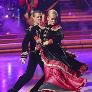 Katherine Jenkins and Mark Ballas perform on Dancing With The Stars (AP Photo/ABC)