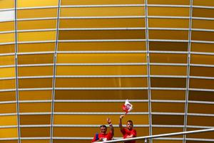 GDANSK, POLAND - JUNE 10: Football fans soak up the atmopshere ahead of the UEFA EURO 2012 group C match between Spain and Italy at The Municipal Stadium on June 10, 2012 in Gdansk, Poland.  (Photo by Michael Steele/Getty Images)