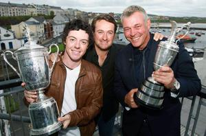 Rory McIlroy, Graeme McDowell and Darren Clarke - who have all enjoyed recent Major tournament wins - are looking forward to competing at Royal Portrush