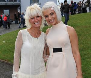 Enjoying a day out at Down Royal Racecourse -  Mandy Lucas and her daughter Gemma Lucas from North Belfast