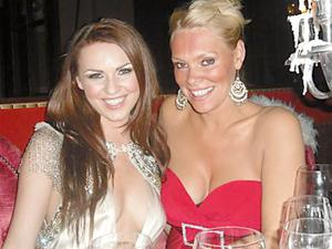 Zoe Salmon and Emma-Louise Johnston at the IN Awards 2009 at the Merchant Hotel