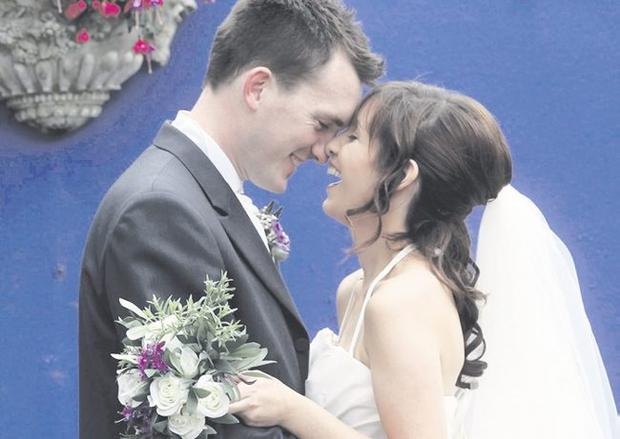 """Patrick and Anne-Marie Smith <p><b>To send us your Wedding Pics <a  href=""""http://www.belfasttelegraph.co.uk/usersubmission/the-belfast-telegraph-wants-to-hear-from-you-13927437.html"""" title=""""Click here to send your pics to Belfast Telegraph"""">Click here</a> </a></p></b>"""