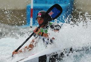 Mike Dawson of New Zealand competes during the Men's Kayak (K1) Canoe Slalom heats on Day 2 of the London 2012 Olympic Games