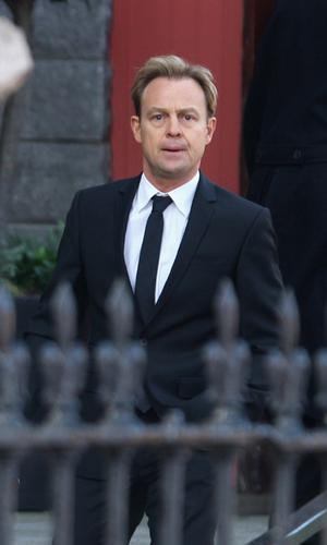 Jason Donovan arrives at the funeral of Stephen Gately