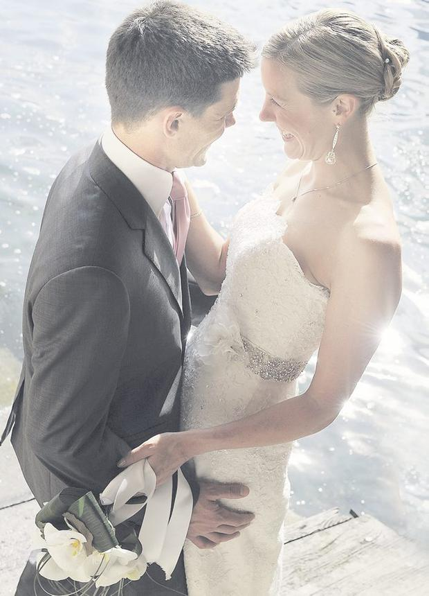 """Christian Nachtigall and Ruth McCamley got married in Varenna on Lake Como, Italy <p><b>To send us your Wedding Pics <a  href=""""http://www.belfasttelegraph.co.uk/usersubmission/the-belfast-telegraph-wants-to-hear-from-you-13927437.html"""" title=""""Click here to send your pics to Belfast Telegraph"""">Click here</a> </a></p></b>"""