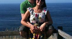John and Michaela McAreavey at the Giant's Causeway in north Antrim