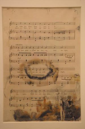 "Sheet music for ""Put Your Arms Around Me, Honey"" from the Broadway production ""Madame Sherry,"" (1910) is shown as part of the artifacts collection at a warehouse in Atlanta, Friday, Aug 15, 2008. The 5,500-piece collection contains almost everything recovered from the wreckage of the RMS Titanic, which has sat 2.5 miles below the surface of the Atlantic ocean since the boat sank on April 15, 1912."