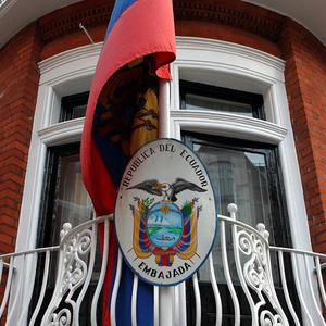 The Ecuadorian Embassy in London where Julian Assange is seeking political asylum