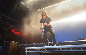 The Foo Fighters perform at Tennants Vital in Boucher Playing Fields last night