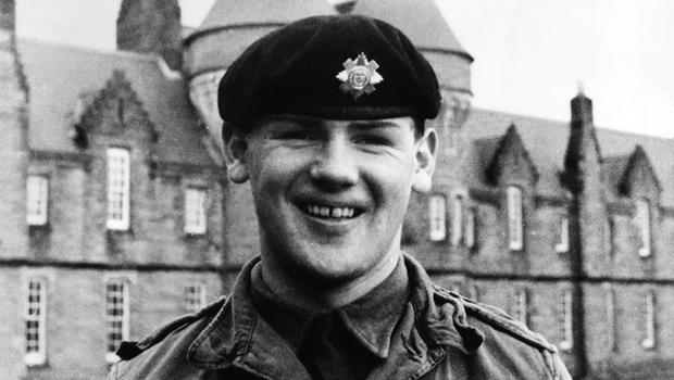Northern Ireland Troubles Gallery: Scots Guardsman, Paul Nicholls, from Caithness, killed by an IRA sniper on the Falls Road, Belfast. 1971