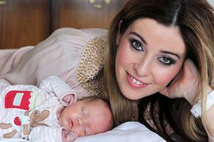 "Cathy Martin and baby Valentina  <p><b>To send us your Baby Pics <a href=""http://www.belfasttelegraph.co.uk/usersubmission/the-belfast-telegraph-wants-to-hear-from-you-13927437.html"" title=""Click here to send your pics to Belfast Telegraph"">Click here</a> </a></p></b>"