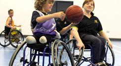 Conn Nagle and Eimear MacSorley, part of the Knights Basketball team.