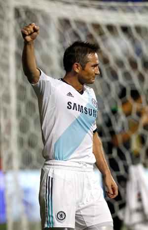 CHESTER, PA - JULY 25: Frank Lampard #8 of Chelsea celebrates after scoring a goal in the second half against the MLS All-Stars during the 2012 AT&T MLS All-Star Game at PPL Park on July 25, 2012 in Chester, Pennsylvania.  (Photo by Jeff Zelevansky/Getty Images)