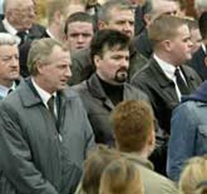 Michael Stone was among the mourners at the funeral of UDA man John Gregg