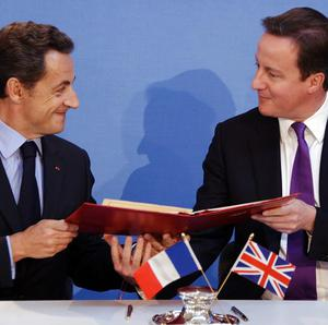 French President Nicolas Sarkozy and Prime Minister David Cameron urged European allies to be ready for all 'contingencies' in Libya